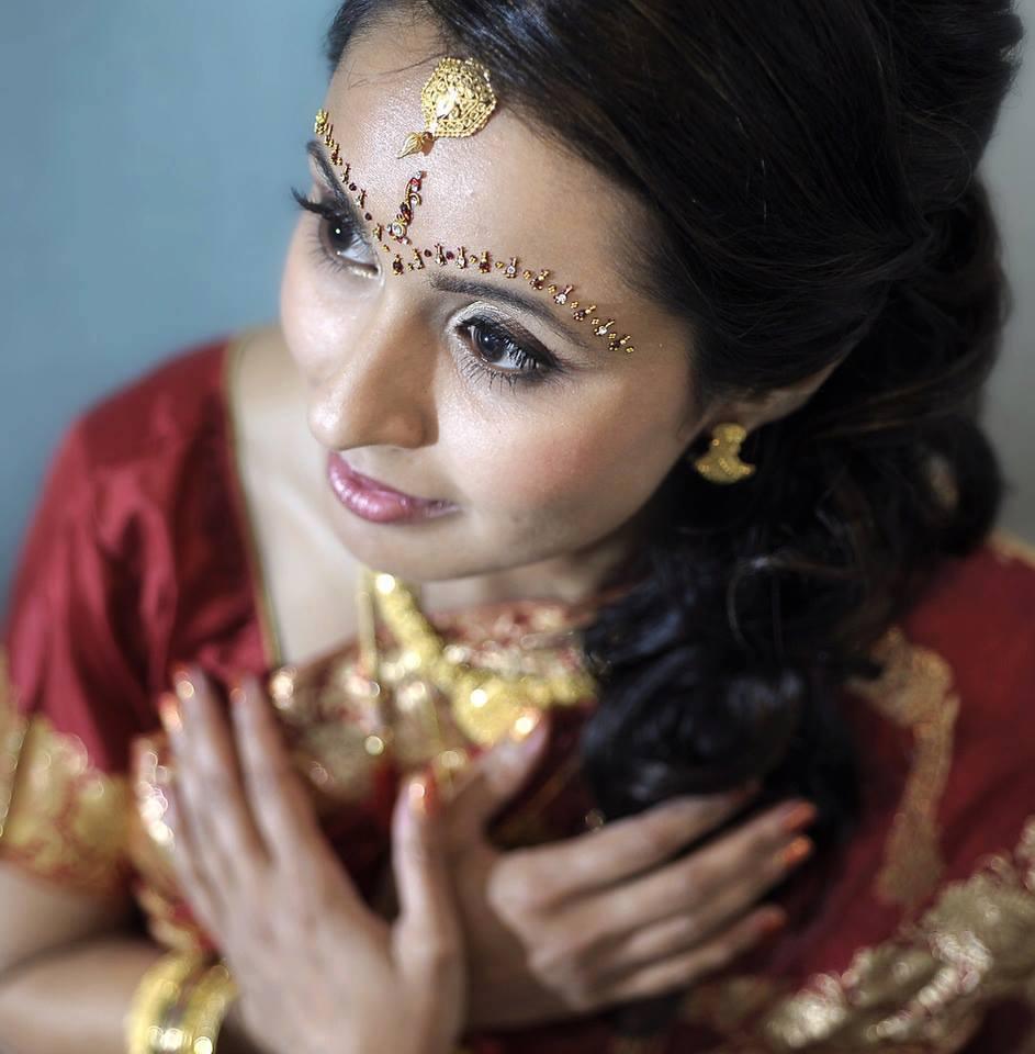 Philadelphia Indian weddings hair and makeup