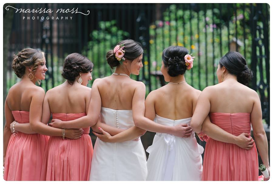 Beautiful LGBT wedding showing off hairstyles