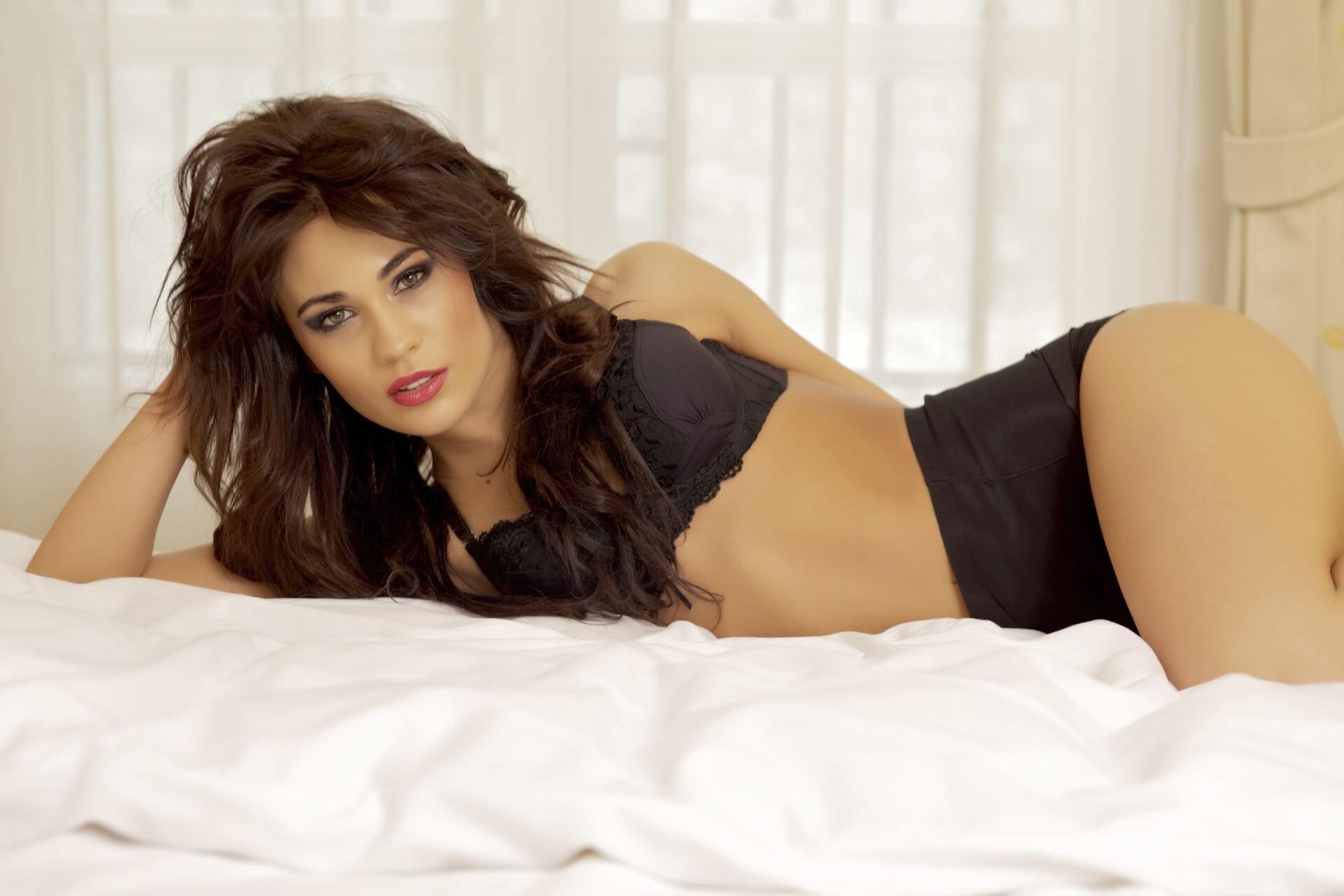 beautiful boudoir photo of a sexy girl