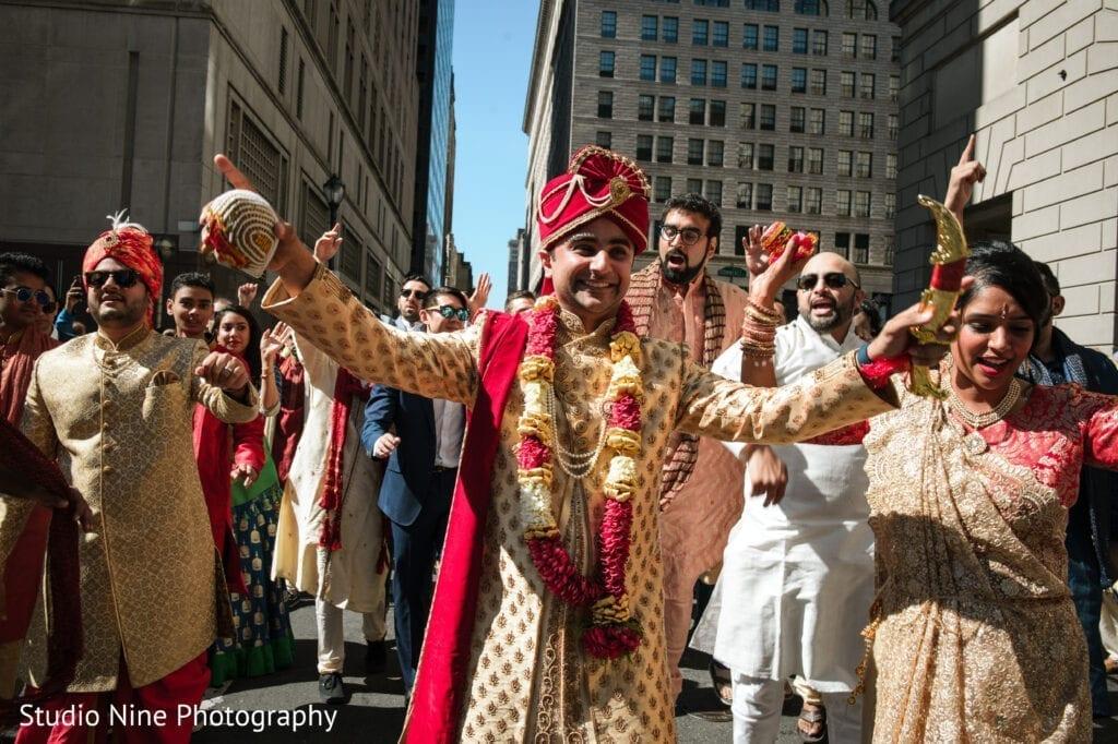 Hindu-wedding-dancing-in-the-streets-of-Philadelphia