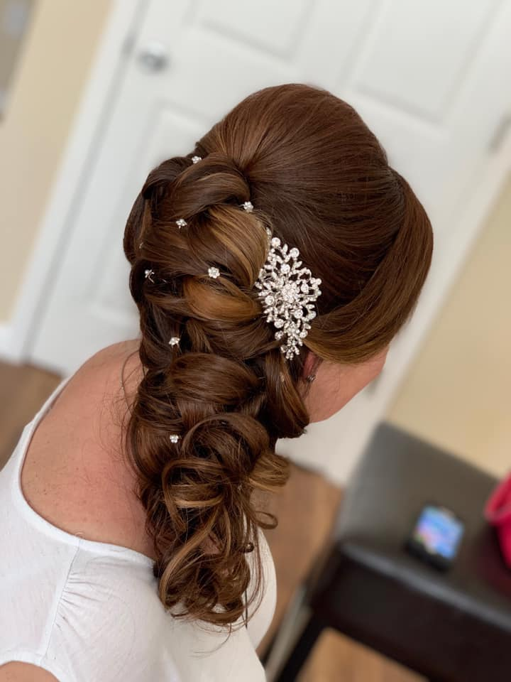 beautiful detailed bridal updo