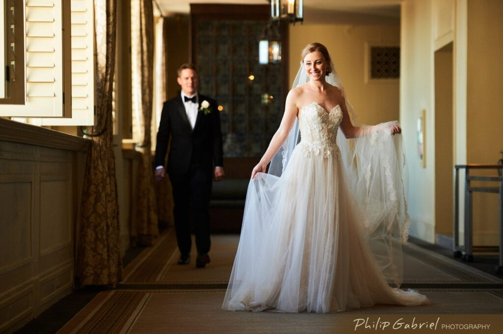 Bellevue Hotel Philadelphia bride and groom