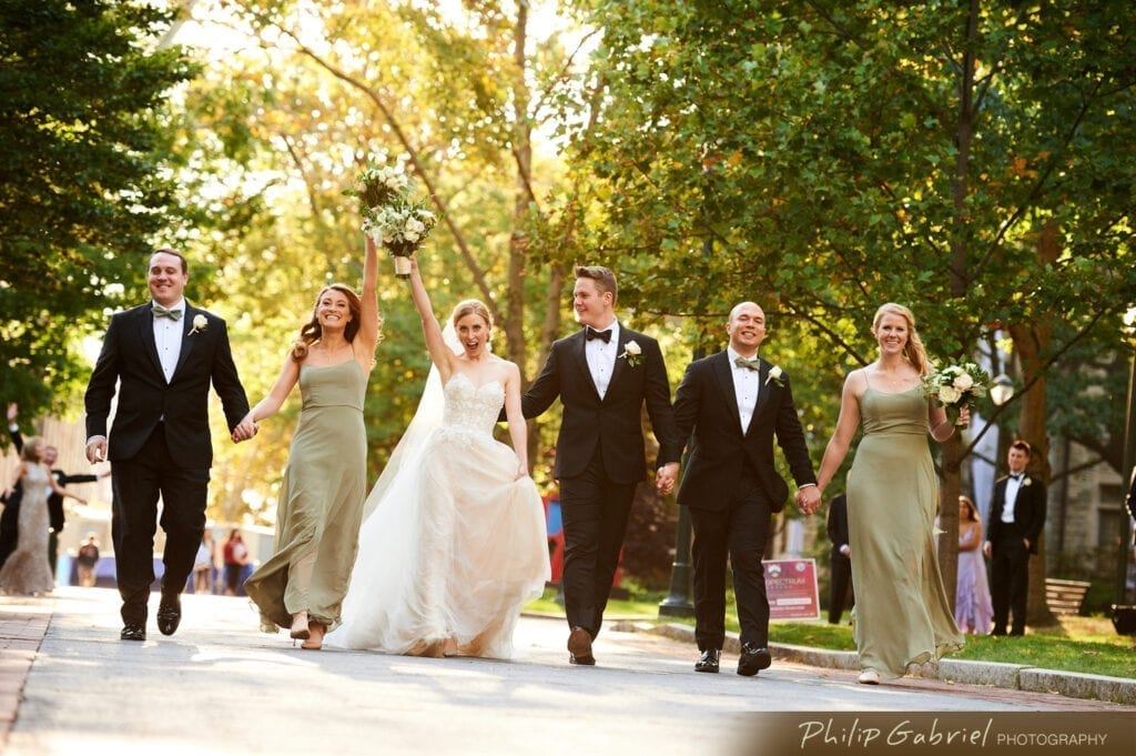 Center City Philadelphia bridal party