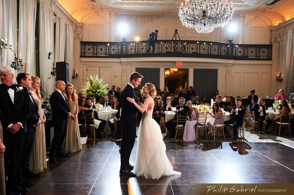 Bellevue Hotel Philadelphia first dance bride and groom
