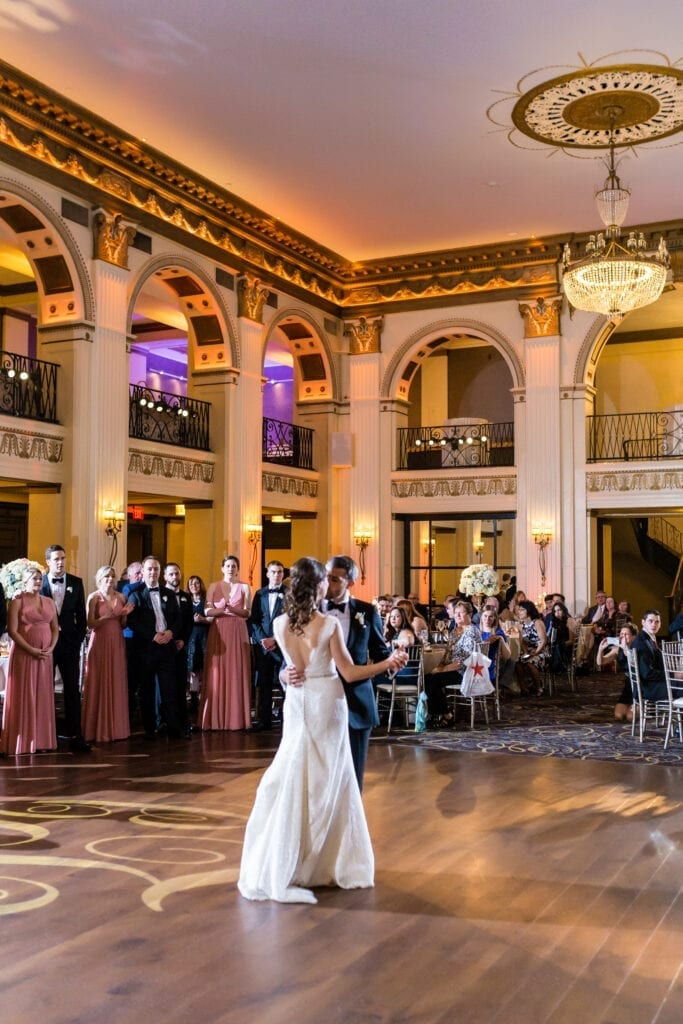 Ballroom at the Ben first dance bride and groom