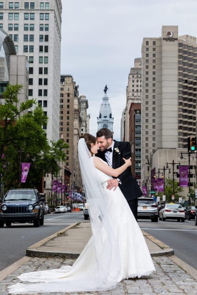 Bride and groom Center City, Philadelphia