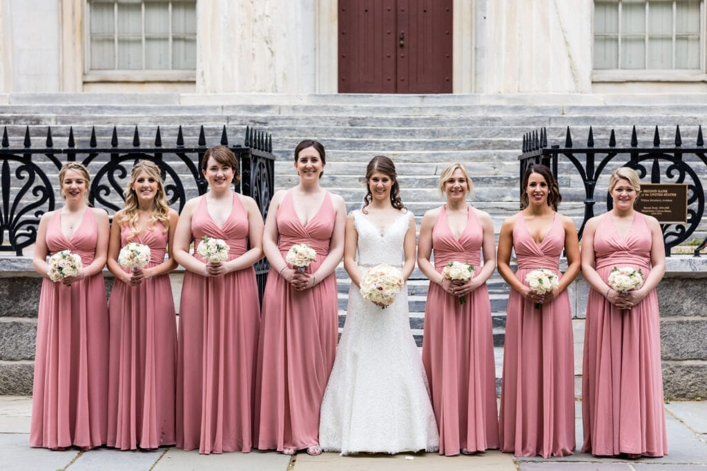 Bridal Party at First National Bank Philadelphia