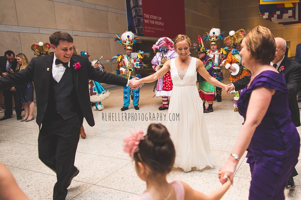 Philadelphia mummers bride and groom